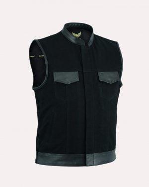 Denim & Textile Biker Waistcoats