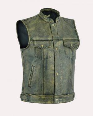 Distressed Leather Waistcoats